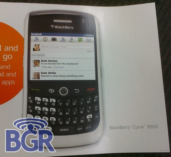 AT&T to get a white BlackBerry Curve 8900? –