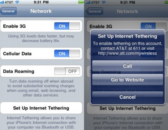 iPhone OS 4.0 Beta 4 Reveals AT&T Data Tethering