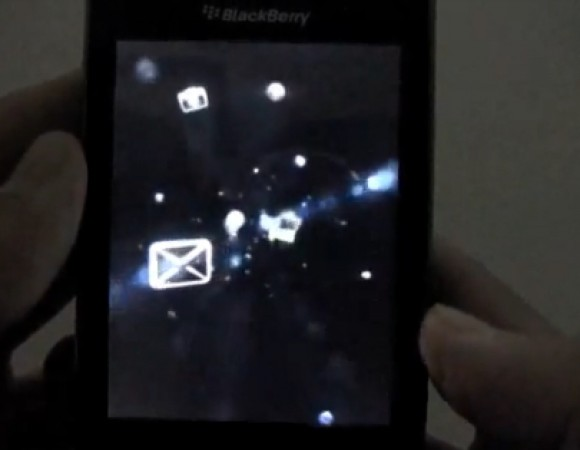 BlackBerry 9800 Start Up Screen Caught On Video