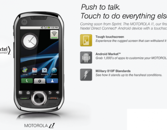 Sprint's Motorola i1 Is Arriving On July 25th For $149.99
