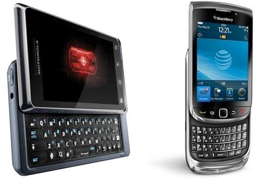 Motorola Droid 2 For Verizon And BlackBerry Torch For AT&T