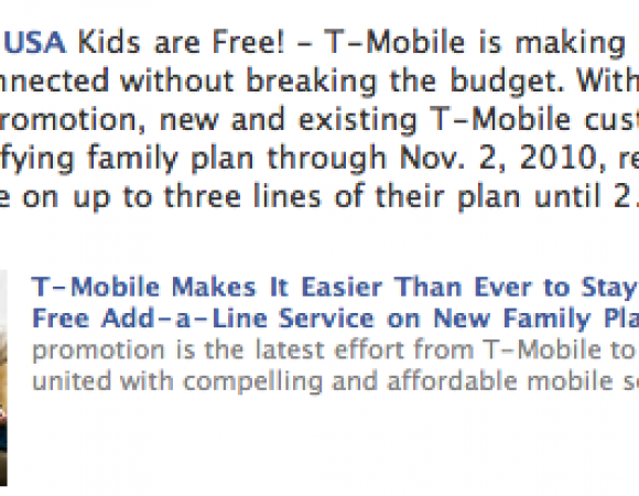 T-Mobile Kicks Off Kids Are Free Family Plan Available Today