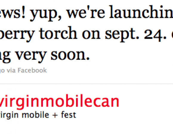 Virgin Mobile Canada Also Launching Their BlackBerry Torch On September 24th