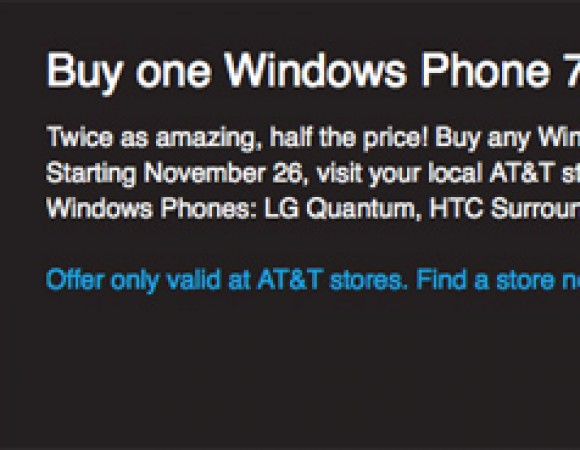 AT&T And Amazon Offers Black Friday Deal On Windows Phone 7 Devices