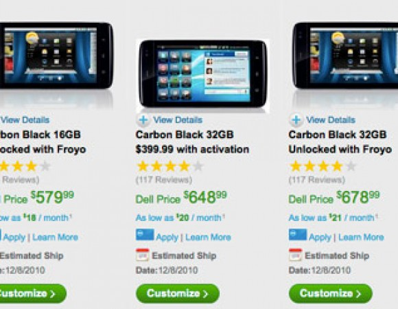 Dell Streak Now Rolling Out Android 2.2 Update, Dell Selling Unlocked Streak With 2.2 Preloaded