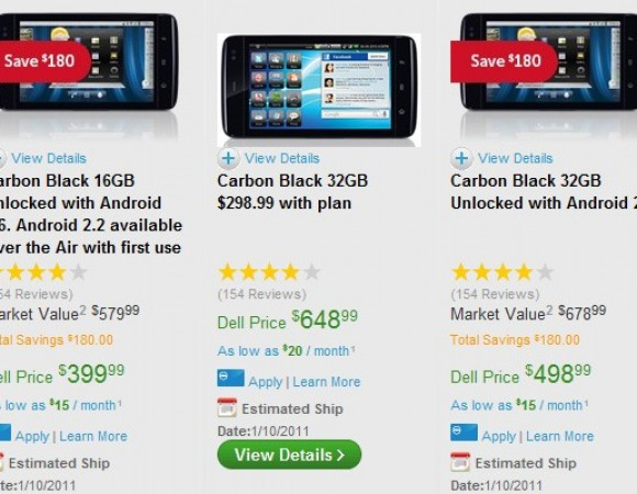 Smart Buy: Dell Streak 16GB Now $399.99 But It Ain't Shipping Until January