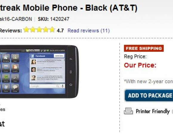 Smart Buy: Dell Streak Now For $99.99 With An AT&T Contract At Best Buy