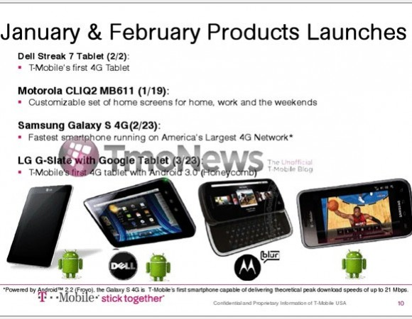 T-Mobile To Release The Dell Streak 7 And Vibrant 4G In February, The LG G-Slate In Late March