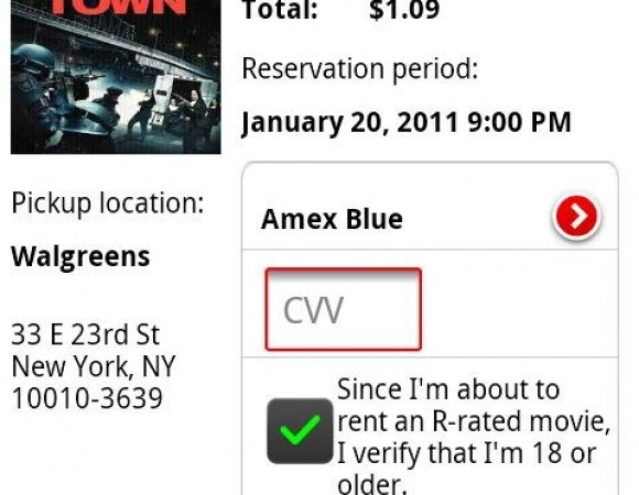 The New Redbox App For Android Allows You To Reserve Movies From Your Phone