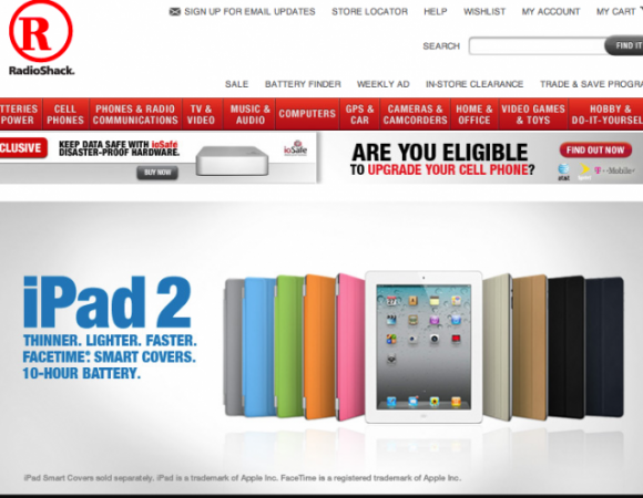 The iPad 2 Is Now Available For Purchase At RadioShack