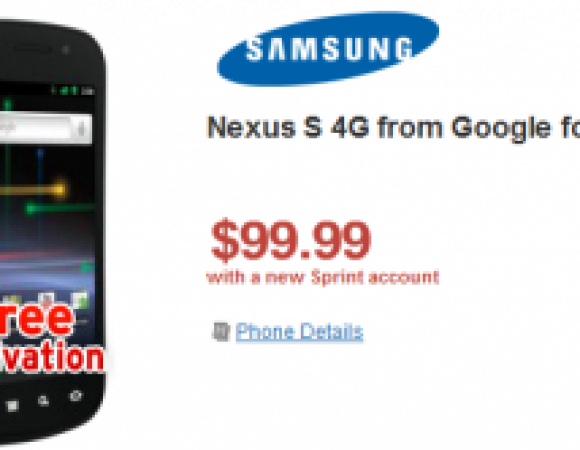 Smart Buy: The Nexus S 4G For Sprint Is Now Only $99.99 For New Customers & $149.99 For Current Customers At Wirefly