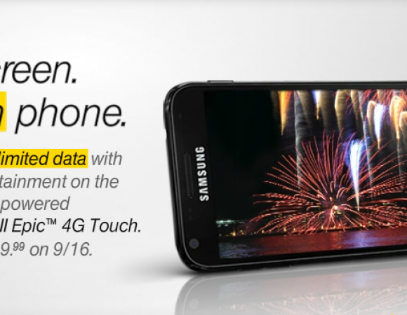 Sprint Is The First US Carrier To Offer The Samsung Galaxy S II (Epic Touch 4G) For $199.99 On September 16th