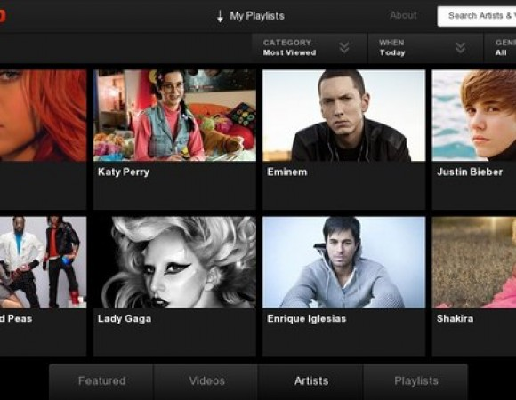 The VEVO Music Video App Is Now Available For The BlackBerry PlayBook