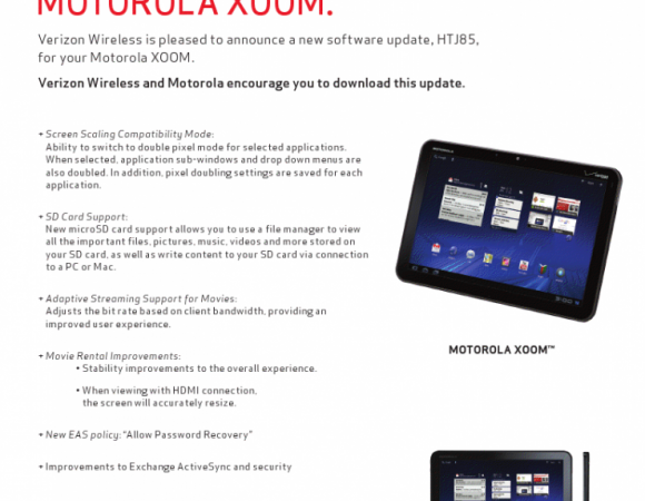 Verizon Is Rolling The Android 3.2 Update Out To Motorola XOOM Users