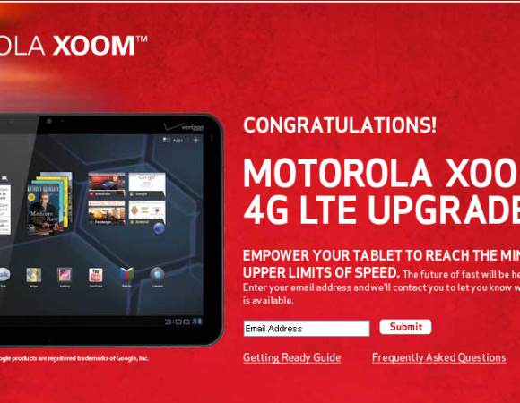 Motorola XOOM 4G LTE Update Available Tomorrow