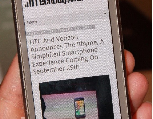 Hands-On With The HTC Rhyme For Verizon (Updated With Video)