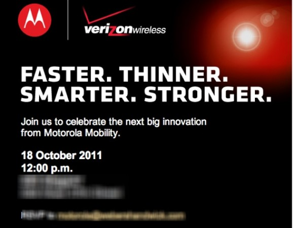 Motorola And Verizon To Hold A Press Event On October 18th, Could They Unveil The Droid HD (RAZR), XOOM 2/ME?