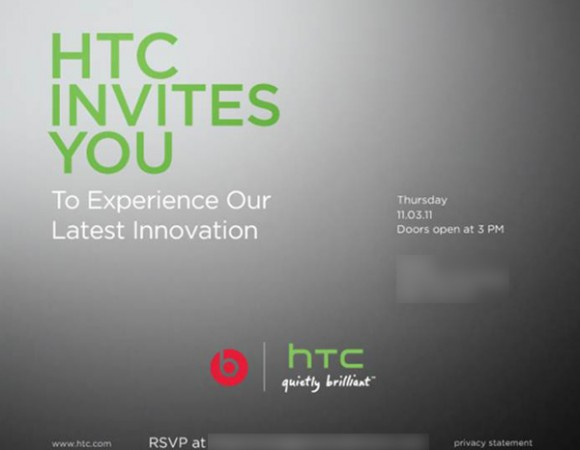HTC To Announce An New Device With Beats Audio In NYC On November 3rd