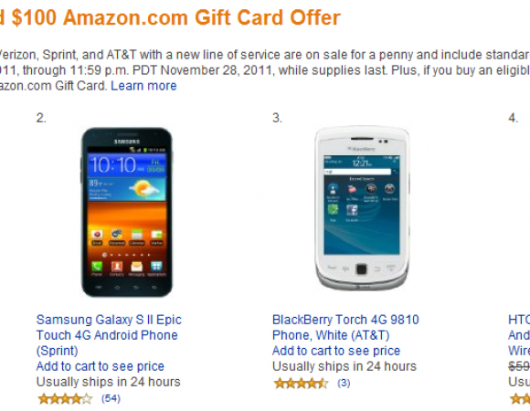 Smart Buy: Amazon Puts Popular Smartphones From AT&T, Sprint, & Verizon On Sale For A Penny