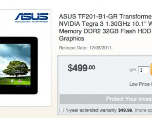 You Can Now Pre-Order Your ASUS Transformer Prime, Hints To December 8th Release
