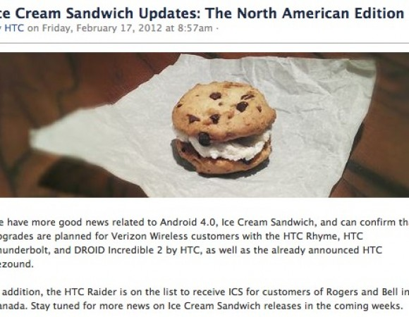 HTC To Give The Incredible 2, Rhyme, & The Thunderbolt The Ice Cream Sandwich Blessing