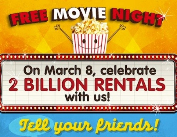 Redbox Celebrating 2 Billion Rentals By Offering Up One Free Movie Rental For March 8th Only