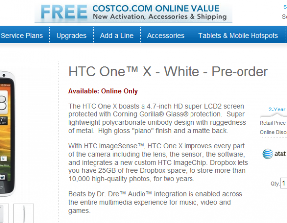 Pre-Order The HTC One X For AT&T For $189.99