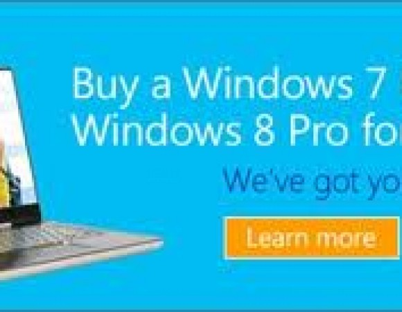 Upgrade to Windows 8 Pro for $14.99 with Microsoft