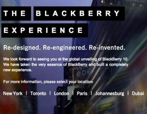 BlackBerry 10 Launch Event Happening In Six Major Cities On January 30th