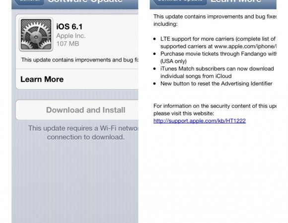 Apple Releases iOS 6.1 For All Things iOS, Adding Movie TicketPurchases Via Siri And iTunes Match Support
