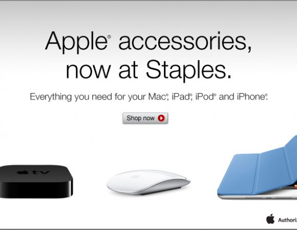 Staples Now Sells Apple Accessories Like Apple TV, Magic Mice, etc.