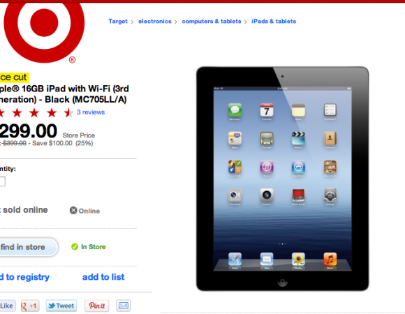 Smart Buy: Get A 16GB 3rd-Gen Wi-Fi iPad For Only $299.99