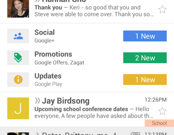 Gmail's Inbox Gets A New Look In Its Latest Update For Android, iOS, & The Web (Video)