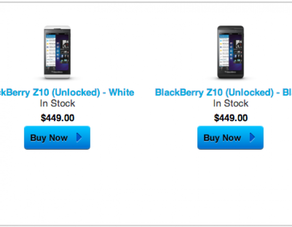 BlackBerry Now Selling Q10s And Z10s Unlocked On Their Site