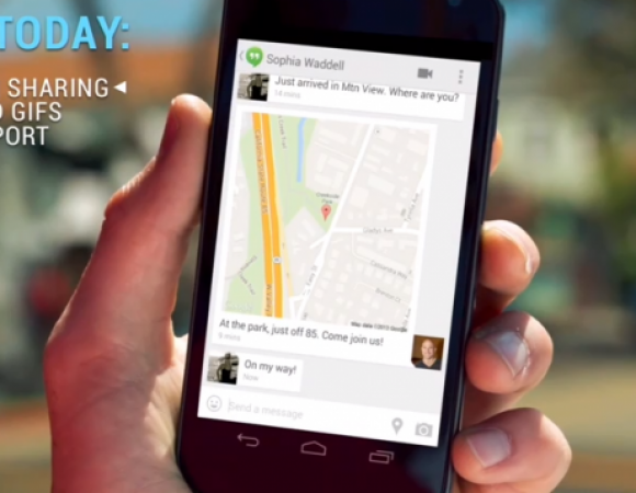 Google Adds Texting, GIFs, & Location Sharing To The Hangouts App