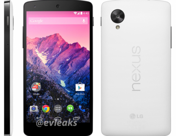 The Nexus 5 Poses In A Lovely White Color, Could Be Available As Early As 11/1