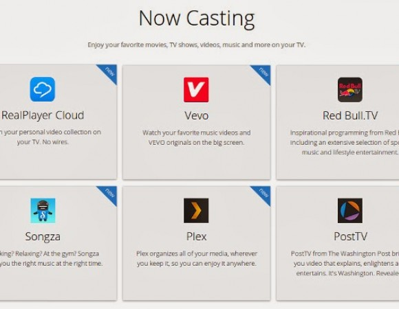 Chromecast Gets 10 New Apps: VEVO, Plex, RealPlayer Cloud, & More