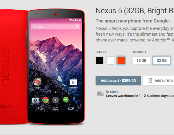 Red Nexus 5 Now Available