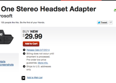 5b906013769 Xbox One Headset Adapters Available Friday New Headsets Available on the  11th