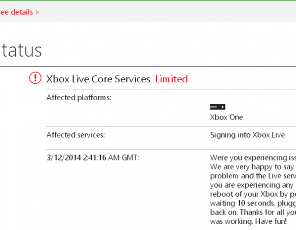 Xbox Live Sign-In Issues Upset Many Titanfall Gamers