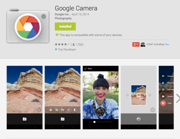 Google Camera App Now in Play Store