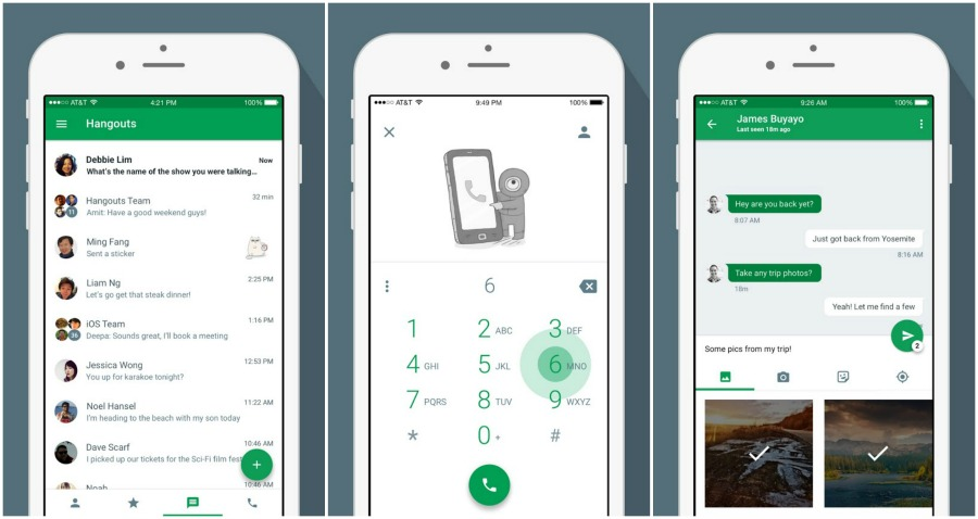 hangouts iOS 2015 update -all