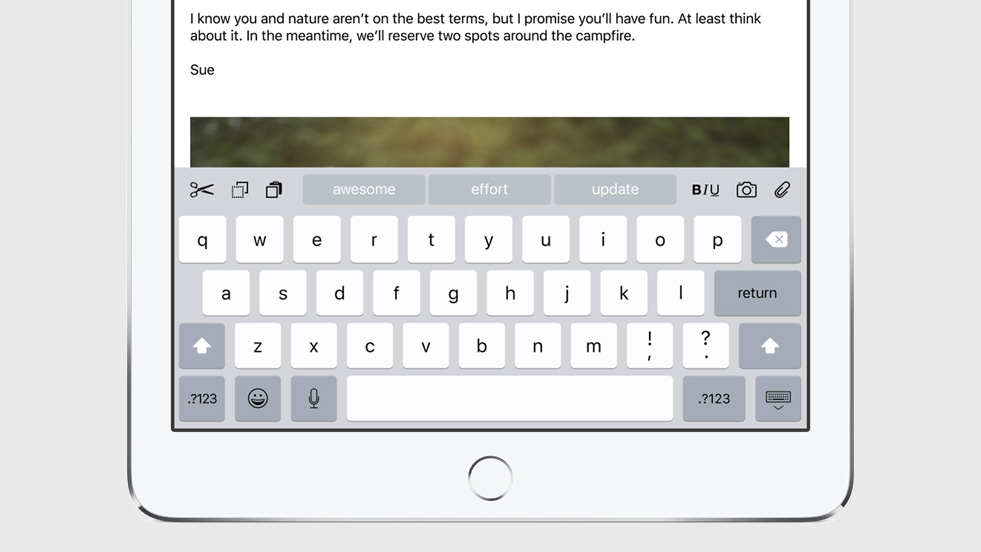 iOS 9 quicktype keyboard