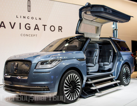 The Lincoln Navigator Concept Amazes w/ Gullwing Doors & More #NYIAS
