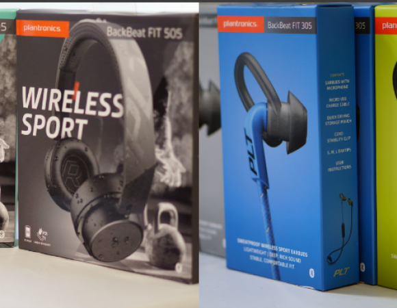 Pick Your Prize: Plantronics Back Beat Fit 305 Or BackBeat Fit 505 (Over)